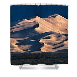 Illuminated Sand Dunes Shower Curtain by Alana Thrower