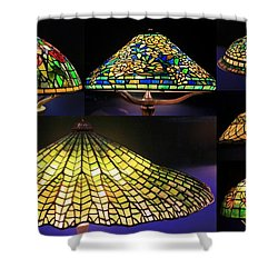 Illuminated Tiffany Lamps - A Collage Shower Curtain