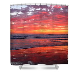 North County Waves Shower Curtain
