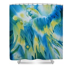Illumination Shower Curtain by Donna Acheson-Juillet