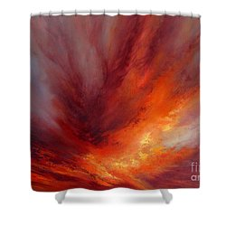 Illumination Shower Curtain by Valerie Travers