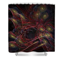 Shower Curtain featuring the digital art Illusion And Chance - Fractal Art by NirvanaBlues
