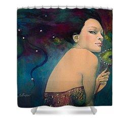 Illusory Shower Curtain by Dorina  Costras