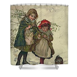 Illustration From Christmas Tree Fairy Shower Curtain by Lizzie Mack