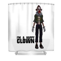 I'm A Happy Clown Shower Curtain