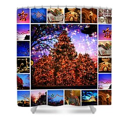 I'm Dreaming Of A Bronx Christmas Shower Curtain by Aurelio Zucco and Augusto Zucco