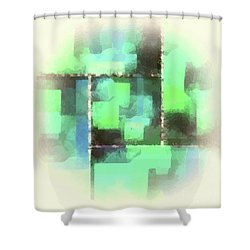 I'm Envious Abstract Shower Curtain