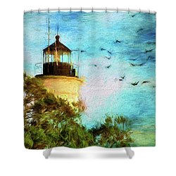 Shower Curtain featuring the photograph I'm Here To Watch You Soar II by Jan Amiss Photography