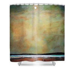 I'm Never Alone Shower Curtain by Toni Grote
