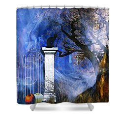I'm Watching You Shower Curtain by Gabriella Weninger - David