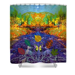 Imaginary Place Shower Curtain by Annie Gibbons