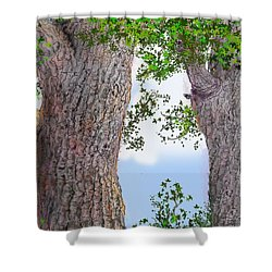 Imaginary Trees Shower Curtain