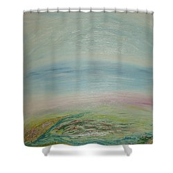 Imagination 7. Landscape. Three Dimensions. View From The Sky. Shower Curtain