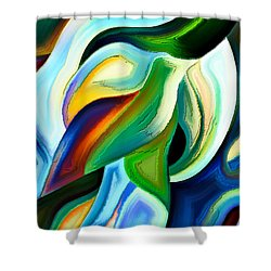 Shower Curtain featuring the painting Imagination by Karen Showell