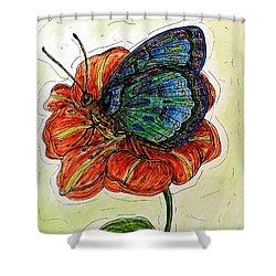 Imagine Butterflies A Shower Curtain