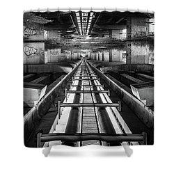 Imaginery Tracks Shower Curtain