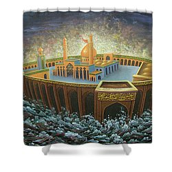Imams Hussain  Shower Curtain by Reza Badrossama