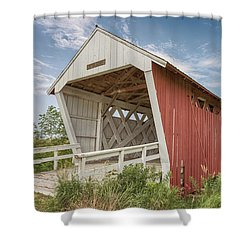 Shower Curtain featuring the photograph Imes Covered Bridge by Susan Rissi Tregoning