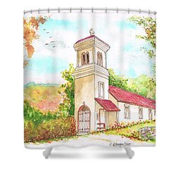 Immaculate Concepcion Catholic Church, Sierra Nevada, California Shower Curtain