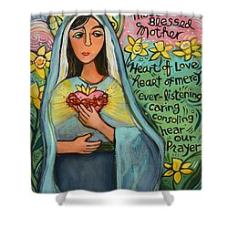 Immaculate Heart Of Mary Shower Curtain