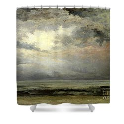 Immensity Shower Curtain by Gustave Courbet