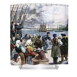 Immigrants On Ship, 1887 Shower Curtain by Granger