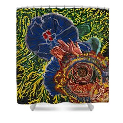 Immunity Activation Microbiology Landscapes Series Shower Curtain