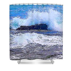 Ocean Impact In Abstract 1 Shower Curtain