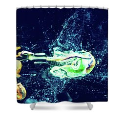 Impact - Pouring Photography Abstract Shower Curtain
