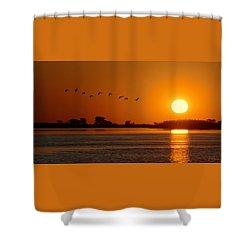 Impalila Island Sunset No. 1 Shower Curtain by Joe Bonita