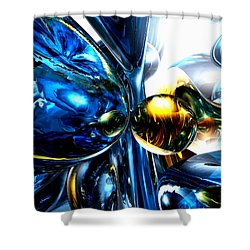 Impassioned Abstract Shower Curtain by Alexander Butler