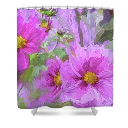 Impasto Cosmos Shower Curtain