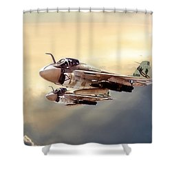Impending Intrusion Shower Curtain by Peter Chilelli