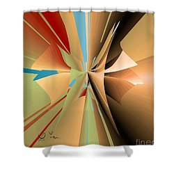 Shower Curtain featuring the digital art Imperfection And Harmony by Leo Symon