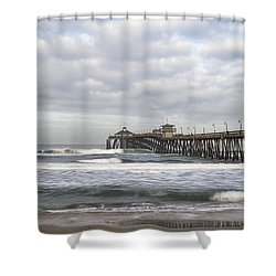 Imperial Beach Pier Shower Curtain by Joseph S Giacalone
