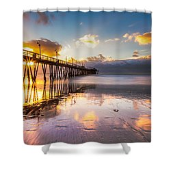 Shower Curtain featuring the photograph Imperial Burst by Ryan Weddle