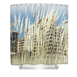 Imperial Wharf Buildings Shower Curtain