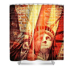 Imperiled Liberty Shower Curtain