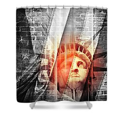 Imperiled Liberty II Shower Curtain