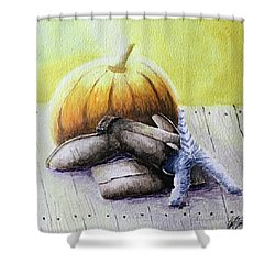 Impish Kitten Shower Curtain