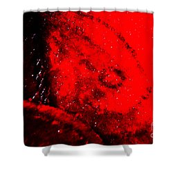 Implosion Shower Curtain by Eva Maria Nova