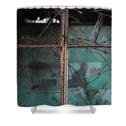 Imposition Shower Curtain by Amanda Barcon