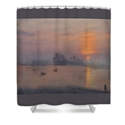 Impression Solent Leviathans Shower Curtain