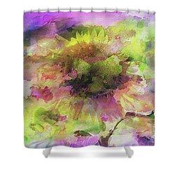 Impression Sunflower Shower Curtain by Geraldine DeBoer