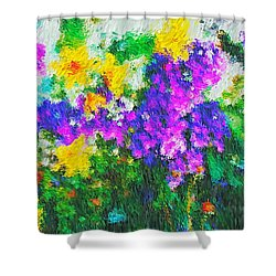 Impressionist Floral Shower Curtain