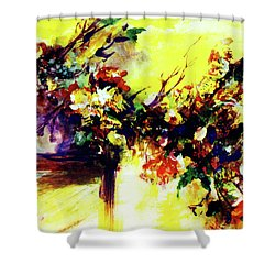 Impressionist Flowers #112, Shower Curtain by Donald k Hall
