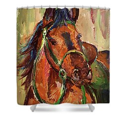 Impressionist Horse Shower Curtain by Janet Garcia