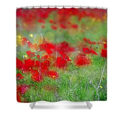 Impressionistic Blossom Near Shderot Shower Curtain