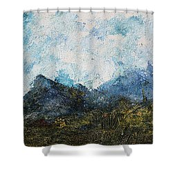 Impressionistic Landscape Shower Curtain