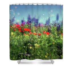 Impressionistic Springtime Shower Curtain